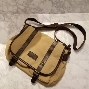 Tan Brown Satchel Bag Crossbody Purse Office Purse